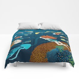 Fish conference Comforters