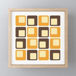 70s Retro Square Shapes Pattern Framed Mini Art Print