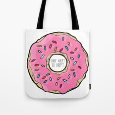 DONUT WORRY BE HAPPY Tote Bag