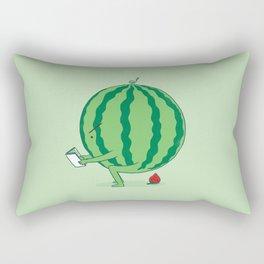 The Making of Strawberry Rectangular Pillow