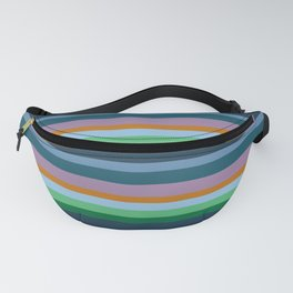 Blue,Green & Orange Stripes Fanny Pack