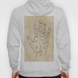 Palmistry Diagram - Palm Reading Chart - Palm Reading Guide Illustration Hoody