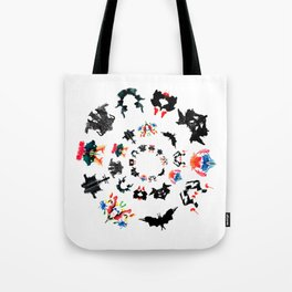 circle of Rorschach test Ink blots ! Tote Bag