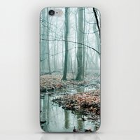 blue iPhone & iPod Skins featuring Gather up Your Dreams by Olivia Joy StClaire