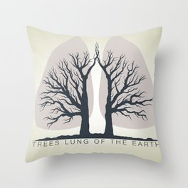 Trees - the lungs of the planet. Icon of ecology in nature Throw Pillow