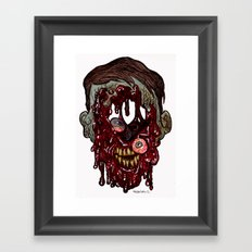 Heads of the Living Dead Zombies: Still Walking Zombie Framed Art Print