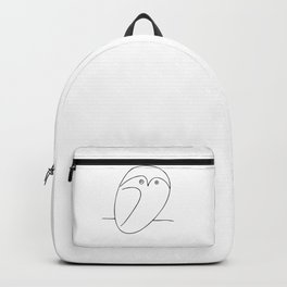 The Owl, Pablo PIcasso sketch drawing, line Design Backpack