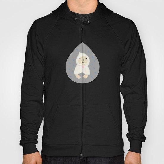 Alternative rain wear(Retriever wears a plastic bag in the rain) Hoody