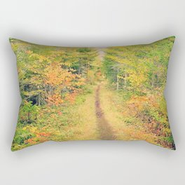 Follow the Trail 2: Adirondack Park in Autumn Rectangular Pillow