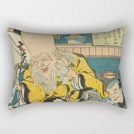 A long head Japanese person Ukiyo-e Rectangular Pillow