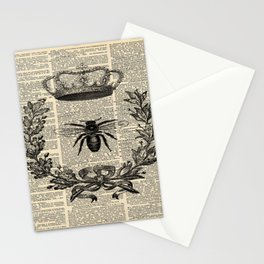 Paris french  garden farmhouse beekeeper honey bee queen Stationery Cards