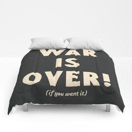 War is over!, if you want it, vintage art, peace, Yoko Ono, Vietnam War, civil rights Comforters