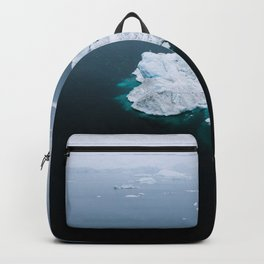Minimalistc Iceberg during a hazy day with dark foreground Backpack