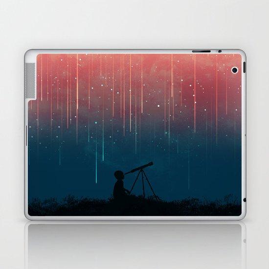 Meteor rain Laptop & iPad Skin