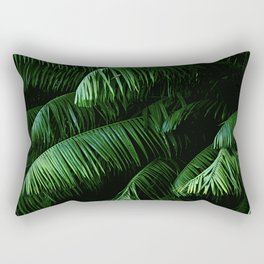 Lush green palms Rectangular Pillow