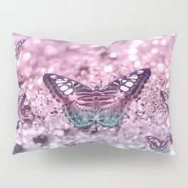 Pastel Unicorn Butterfly Glitter Dream #2 #shiny #decor #art #society6 Pillow Sham