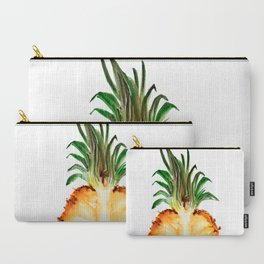 Cut pineapple into halfs - watercolor art Carry-All Pouch