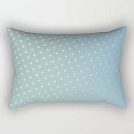 Cool blue dots Rectangular Pillow