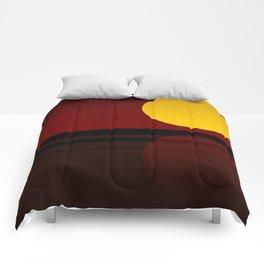 Minimal Sunset №3 Comforters