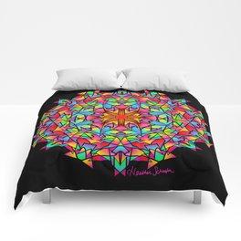 Psychedelic Porcupine Mandala Comforters