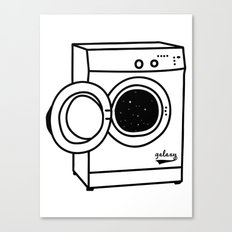 Space Washing Machine Canvas Print