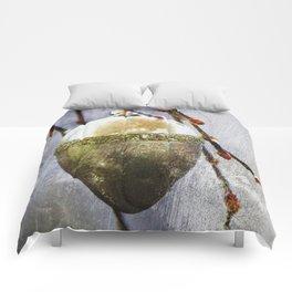 Golden easter egg Comforters