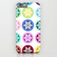 Colorful Snowflake Print Slim Case iPhone 6s
