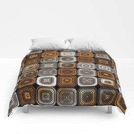 Geometric chocolate pattern Comforters