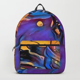 Colorful Cone Flower Digital Manipulation Backpack