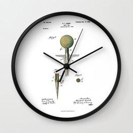 Golf Tee Patent - 1899 Wall Clock