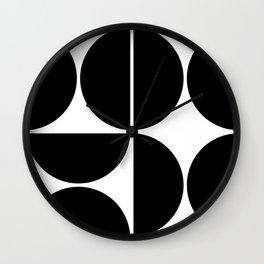 Mid Century Modern Black Square Wall Clock