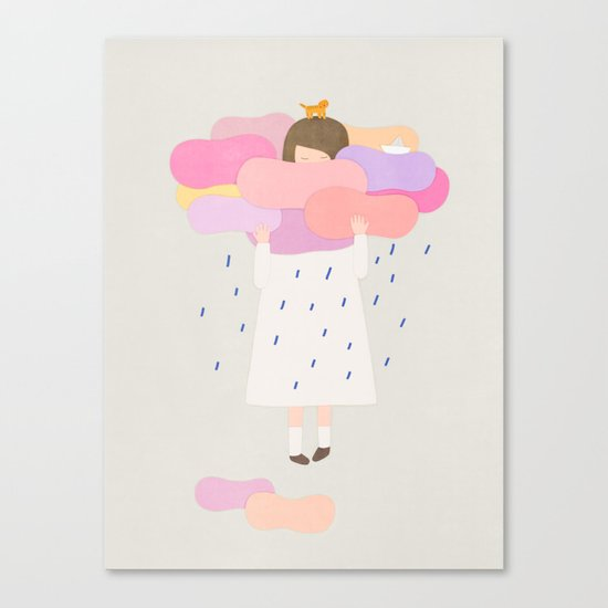 The sweet clouds Canvas Print