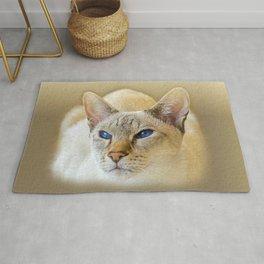 SIAMESE CAT LOVE Rug
