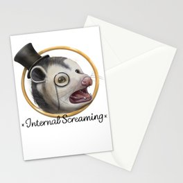Awkward Opossum Stationery Cards