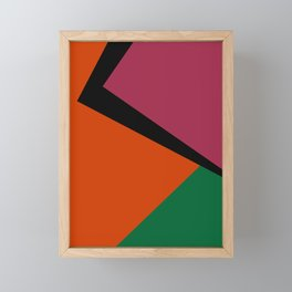 Abstract #12 Orange Green Black Red Framed Mini Art Print