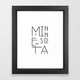 Minnesota Typography Framed Art Print
