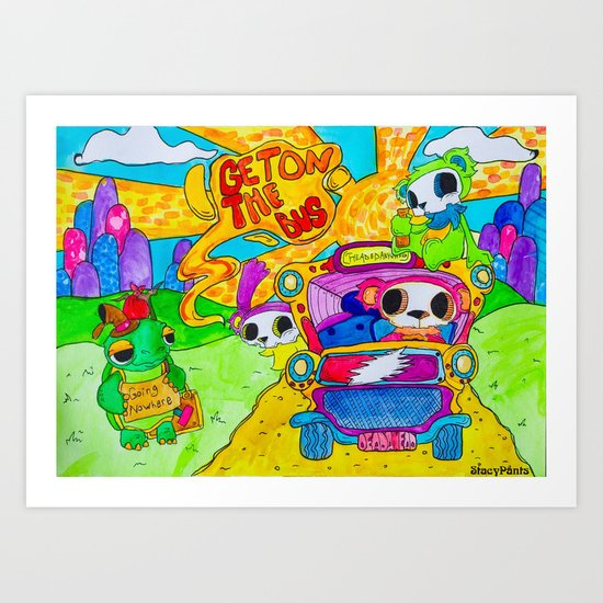 Get On The Bus Art Print