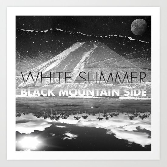 White Summer / Black Mountain Side Art Print