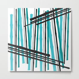 Jib Street Abstract Bamboo Metal Print