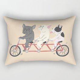 tandem bike Rectangular Pillow