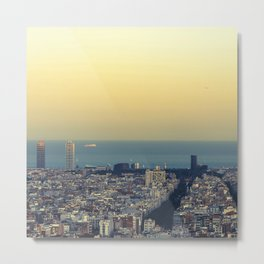 Barcelona view Metal Print