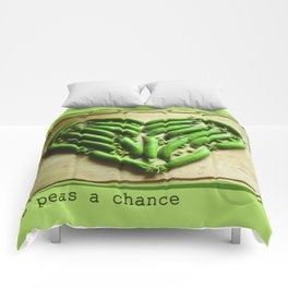 Give Peas a Chance Comforters