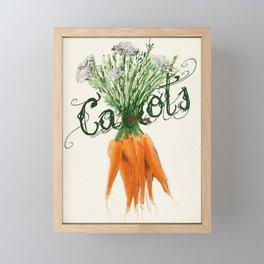 Carrots / Karotten Framed Mini Art Print