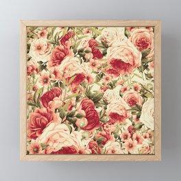 Vintage Blossoms (Endearing Sunset) Framed Mini Art Print
