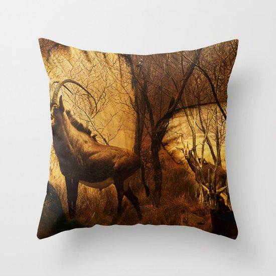 Diorama :: Antelope Throw Pillow