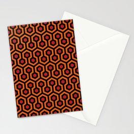 Retro 70s Horror Hotel Rug Stationery Cards