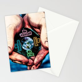 Advent Guard Earth Heart Stationery Cards