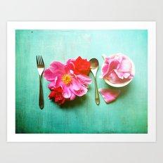 You Are What You Eat - Aqua Art Print