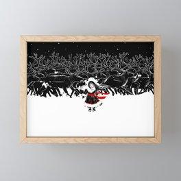 Night of Reindeer Framed Mini Art Print