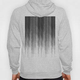 Black and Grey Paint Drips on White Hoody